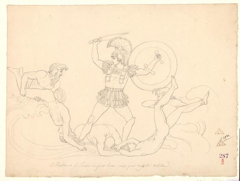 Le Zante et le Simoïs unissent leurs eaux (pour engloutir Achille)