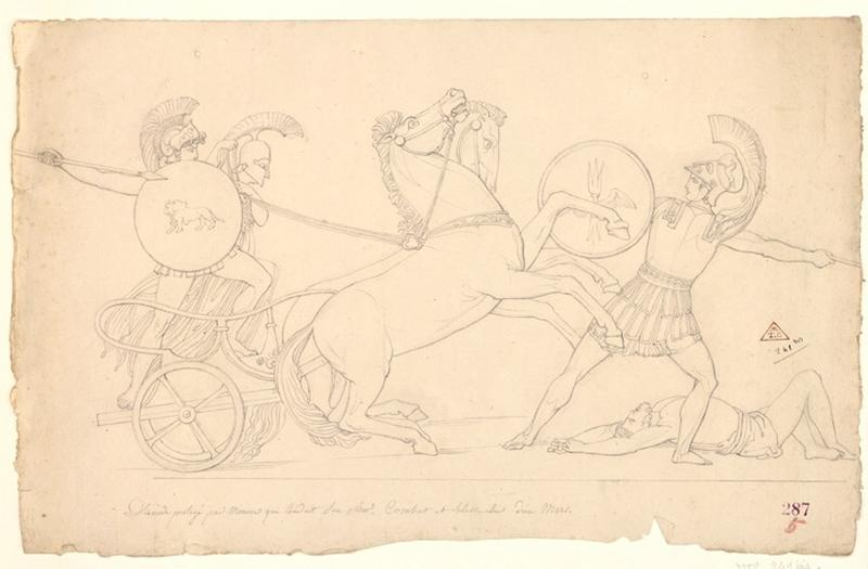 anonyme : Diomède protégé par Minerve qui conduit un char