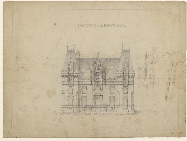 HODE René (dessinateur, architecte) : Château de la Baronnière