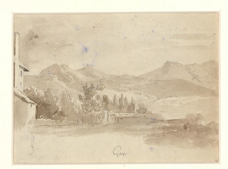 RAUCH Charles (dessinateur) : Souvenir d'Italie (deux dessins recto verso)