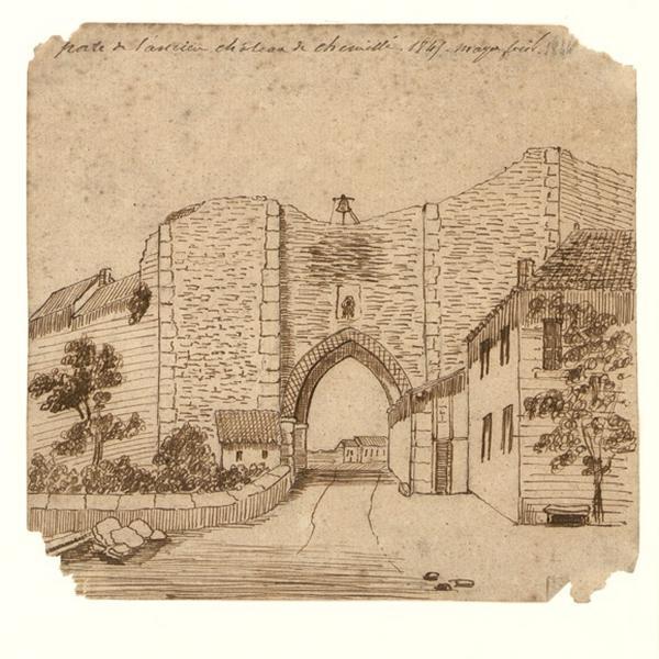 Porte de l'ancien château de Chemillé_0
