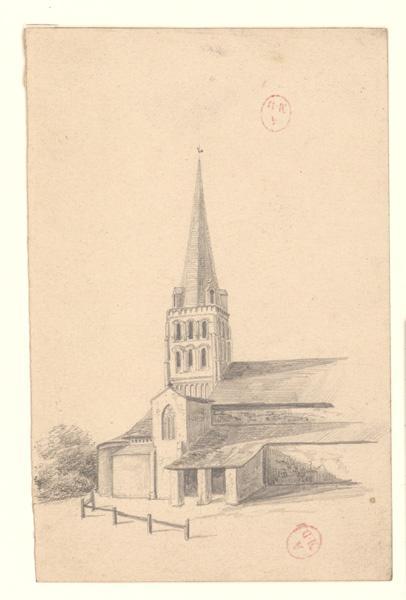 anonyme (dessinateur) : Eglise Saint-Pierre de Chemillé