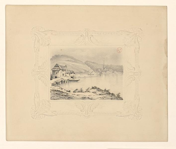HAWKE Peter (attribué, dessinateur) : Moulin de Chenillé