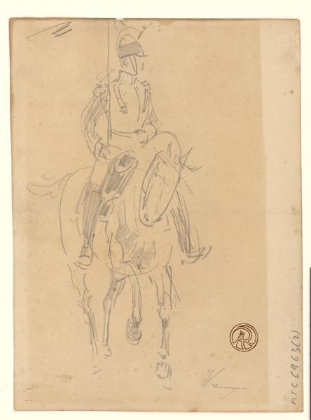 Etude de cavalier (Deux dessins recto verso)_0