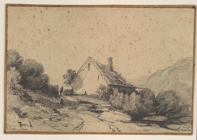 COIGNET Jules Louis Philippe (dessinateur) : Paysage