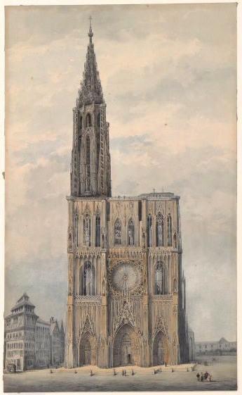 HAWKE Peter (dessinateur) : Cathédrale de Strasbourg