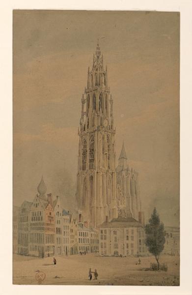 HAWKE Peter (dessinateur) : Cathédrale d'Anvers