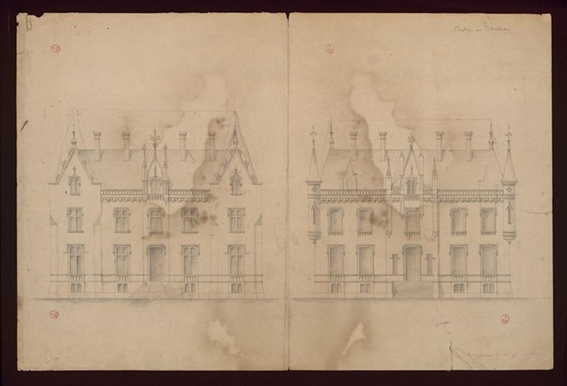 HODE René (dessinateur, architecte) : Château de Marthou