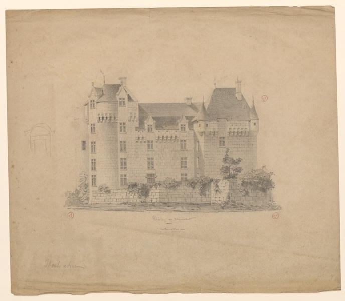 anonyme (dessinateur) : Château de Montsabert
