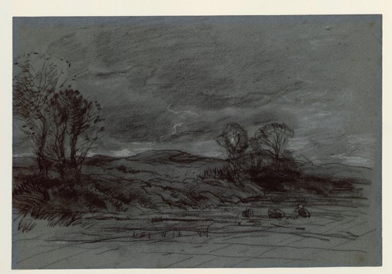 BOCK Théophile Emile Achille de (dessinateur) : Dunes aux environs de La Haye