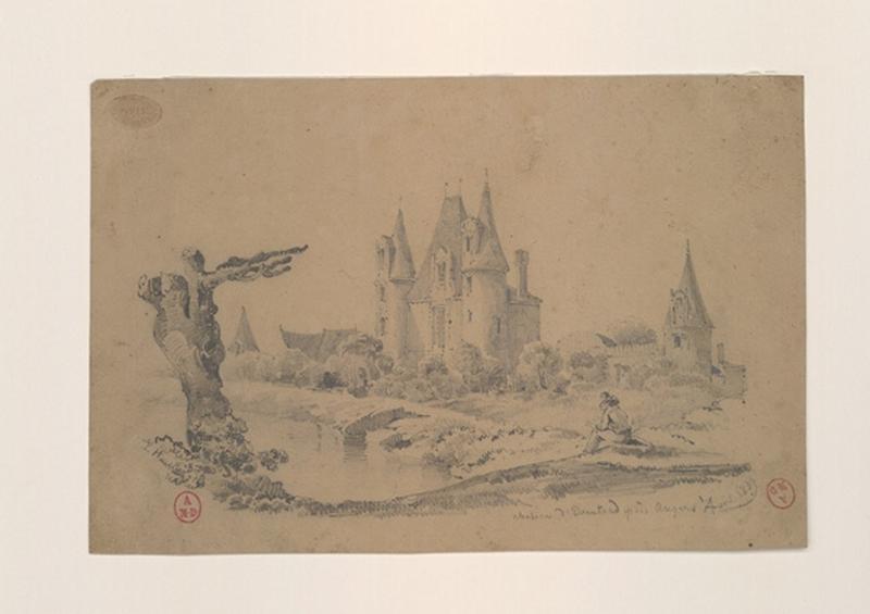 HAWKE Peter (dessinateur) : Château d'Eventard près Angers