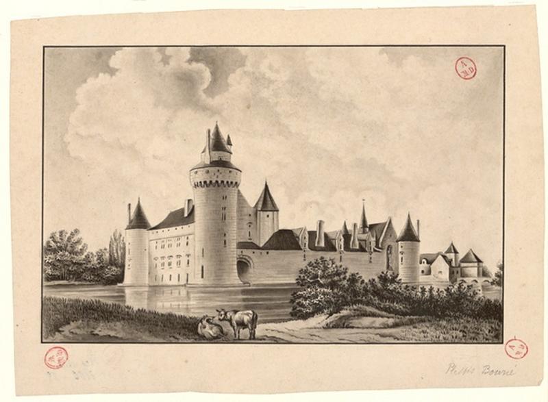 TARDIF-DESVAUX Marin Jean Théophile (dessinateur), BERTON Th (d'après, dessinateur) : Château du Plessis-Bourré
