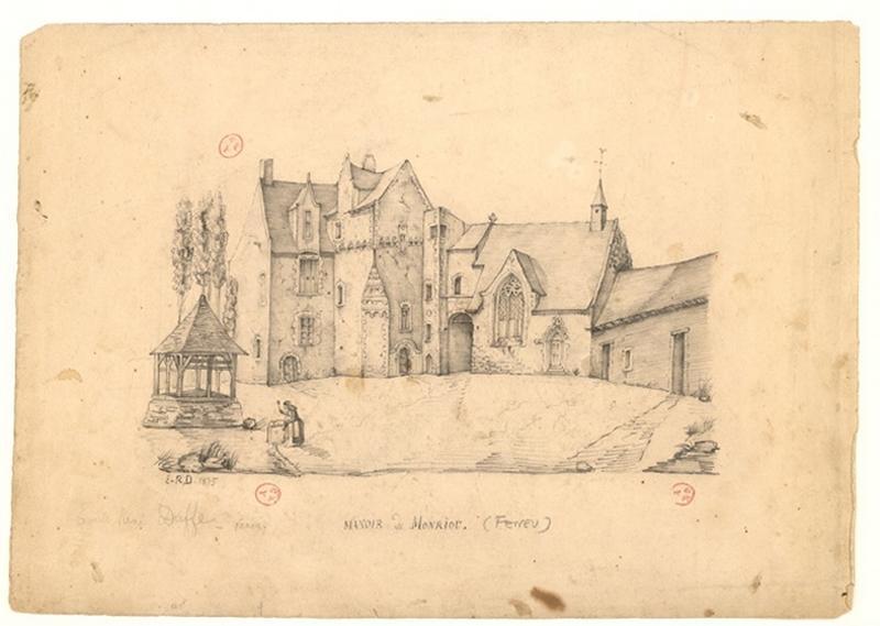 DUFFE Emile René (dessinateur) : Manoir de Montriou