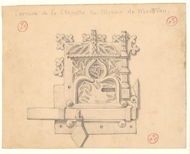 Serrure de la chapelle du manoir de Montriou