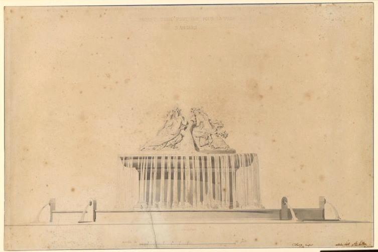 Projet de fontaine pour la ville d'Angers