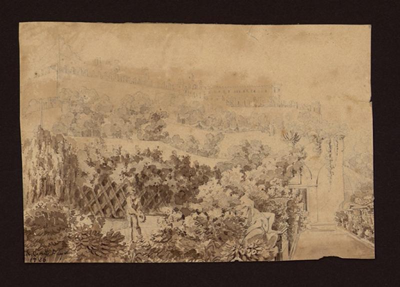CARELLI Raffaele (dessinateur), CARELLI Gonsalvo (dessinateur) : Dans les jardins d'un palais
