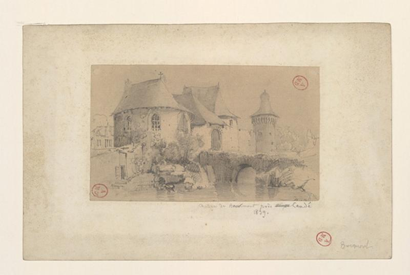 HAWKE Peter (dessinateur) : Château de Bourmont près Candé