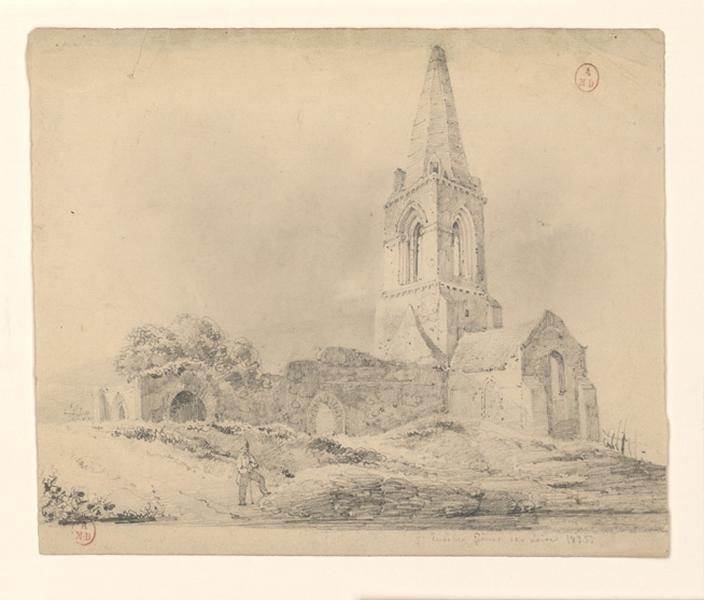 HAWKE Peter (dessinateur) : Ruines de Saint-Eusèbe