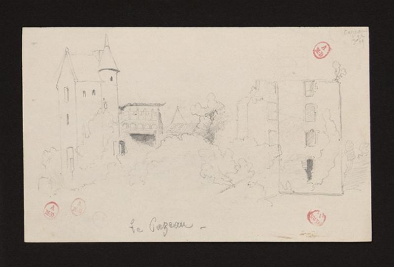 anonyme (dessinateur) : Château de Cazeau