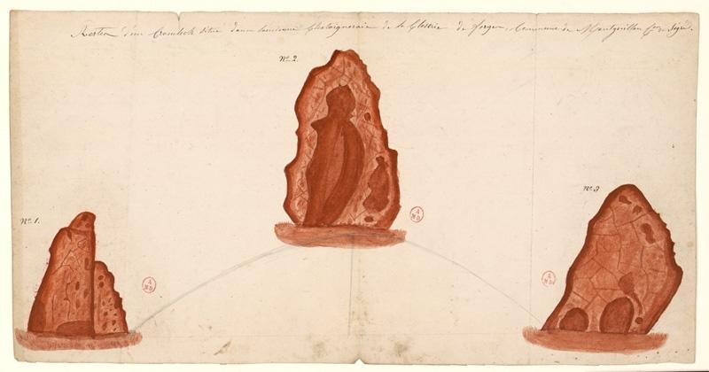 anonyme (dessinateur) : Menhir des Forges
