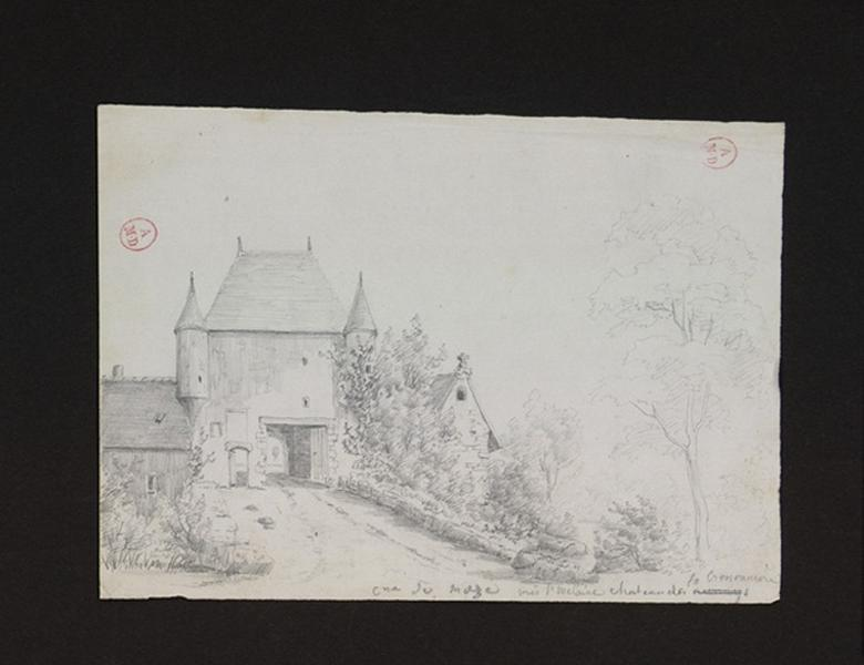 HAWKE Peter (d'après, dessinateur), anonyme (dessinateur) : Château de la Crossonnière