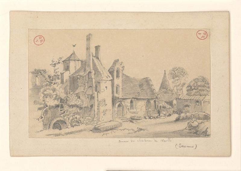 HAWKE Peter (attribué, dessinateur) : Château de Vaillé