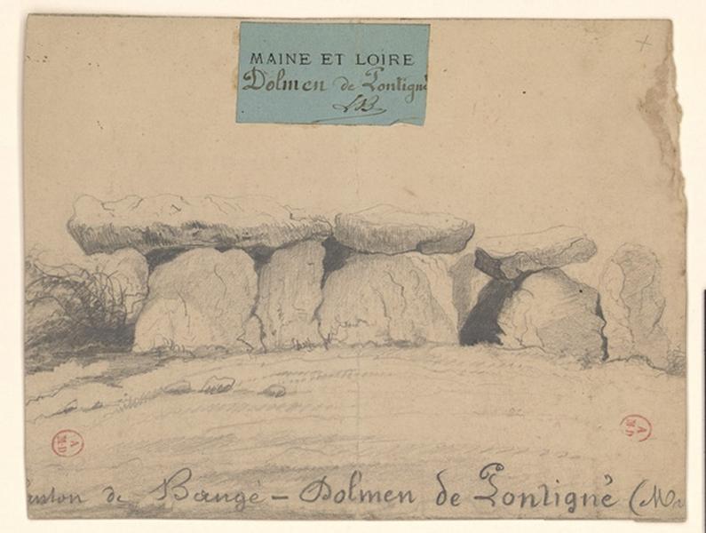 LE BOEUF (dessinateur, archéologue) : Dolmen de Pontigné