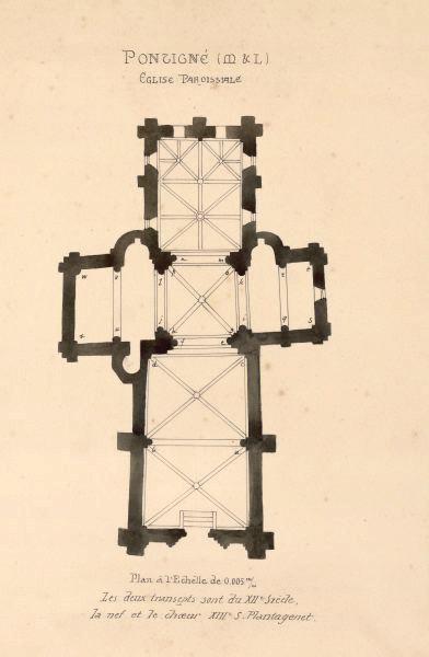 Plan de l'église de Pontigné ; Eglise de Pontigné_0