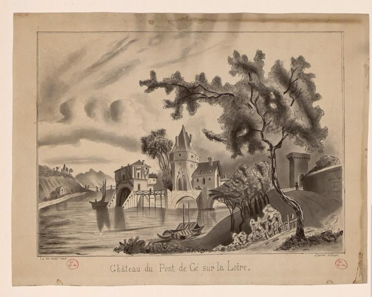 CARRE Albert (dessinateur) : Château des Ponts-de-Cé