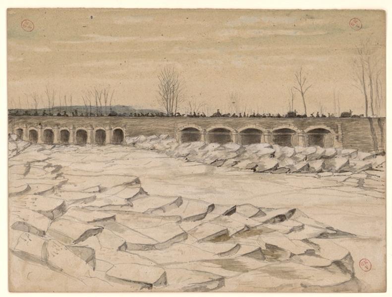L'embâcle aux Ponts-de-Cé
