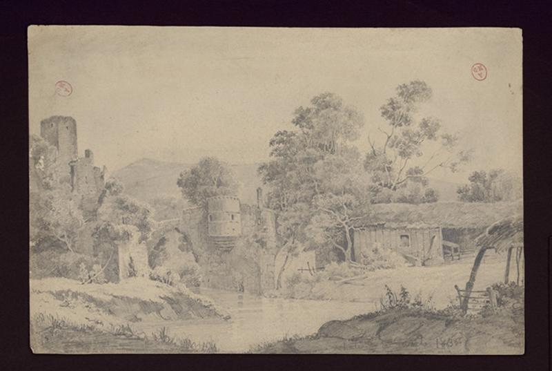 HAWKE Peter (attribué, dessinateur) : Château de la Haute-Guerche