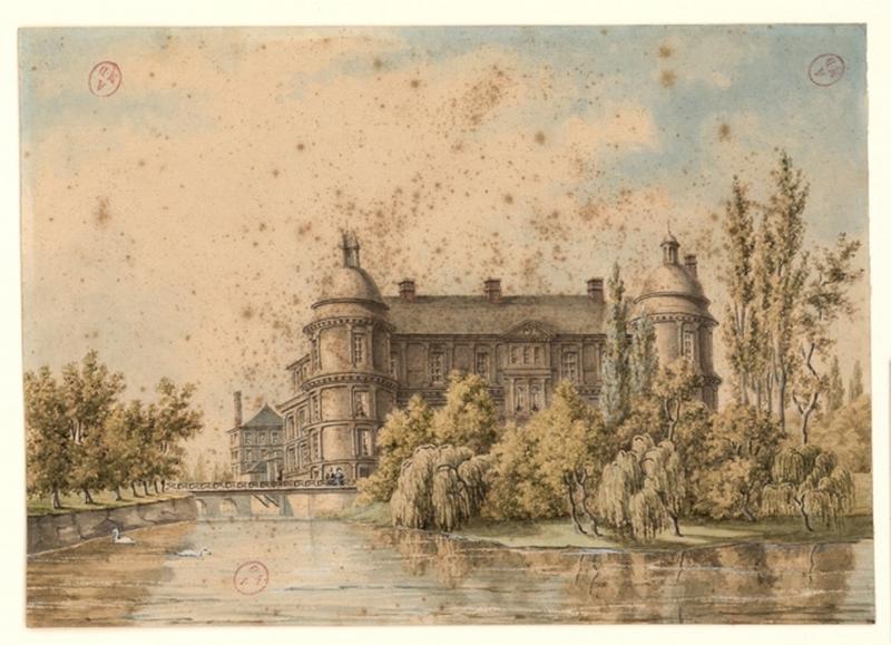 anonyme (dessinateur), MOTTE Charles Etienne Pierre (d'après, lithographe), DEROY Isidore Laurent (d'après, dessinateur) : Château de Serrant