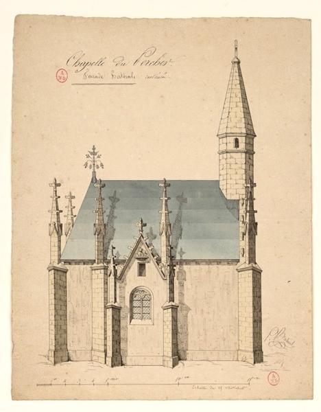 BRETAUD P (dessinateur) : Chapelle du château du Percher