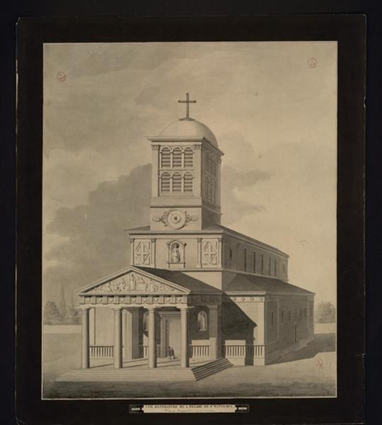 DAINVILLE Edouard (dessinateur, architecte) : Eglise de Saint-Mathurin-sur-Loire