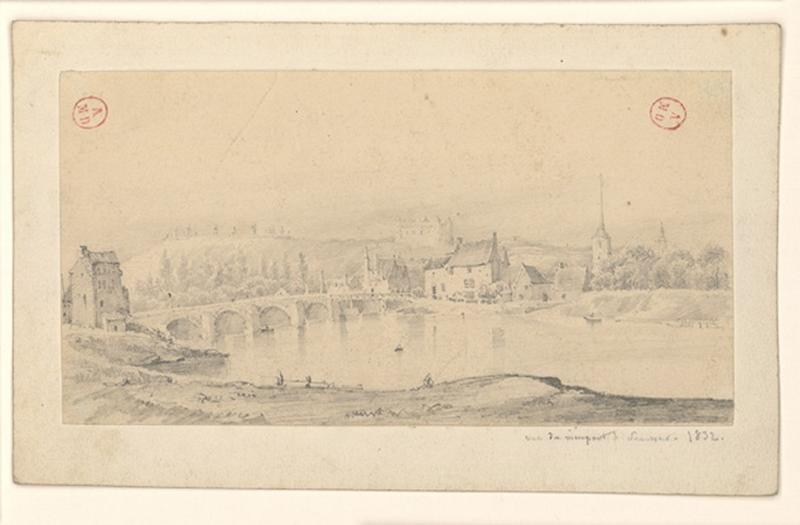 Vue du vieux pont de Saumur_0