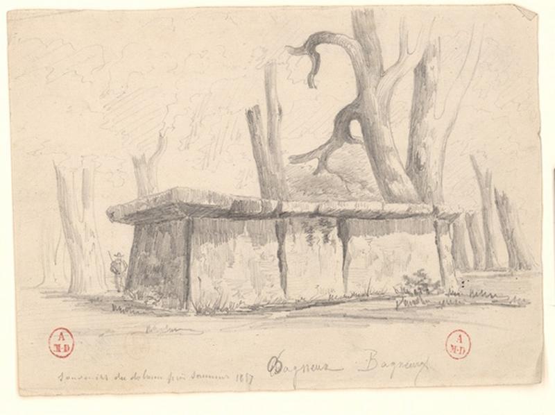 anonyme (dessinateur) : Dolmen de Bagneux