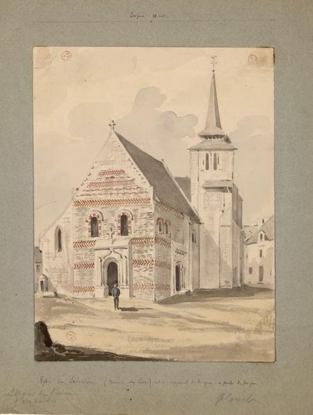 anonyme (dessinateur) : Eglise de Savennières