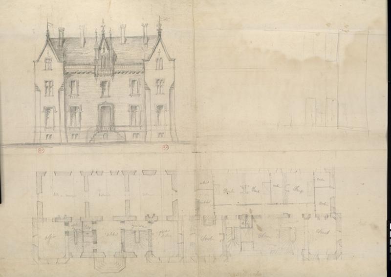 HODE René (attribué, dessinateur, architecte) : Château de Brignac