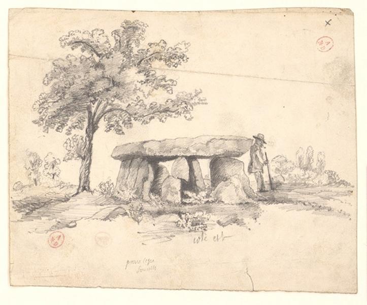 anonyme (dessinateur) : Dolmen de la Pierre-Césée