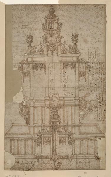 MAILLARD Paul (dessinateur, facteur d'orgues), anonyme (dessinateur) : Les orgues de l'église Saint-Pierre