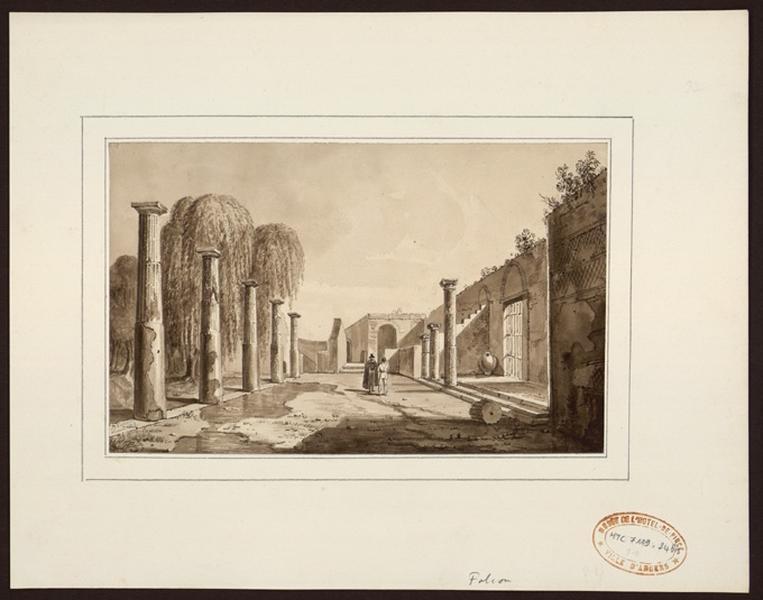 Deux hommes discutant dans des ruines romaines