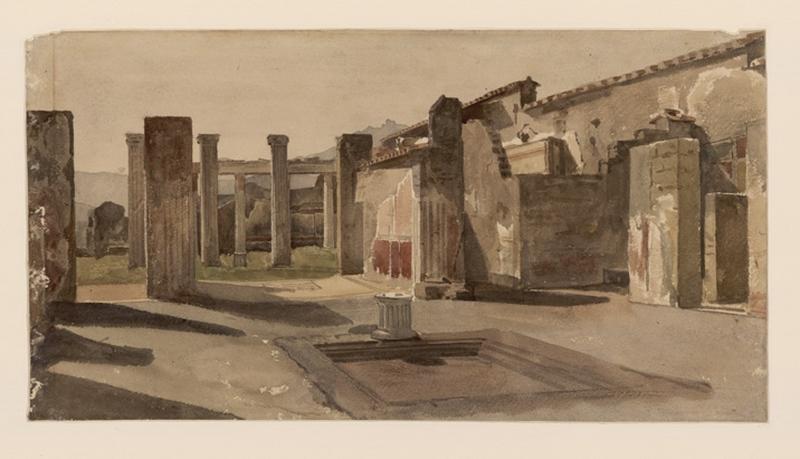 Pompéi, fouilles, vue d'ensemble ; Pompéi, d'après les fresques : silène funambule