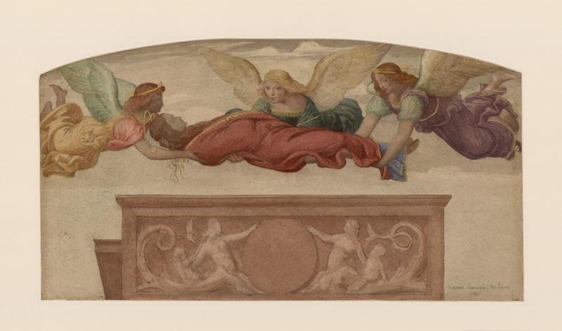 Milan, fresque de Sainte Catherine, d'après Luini_0
