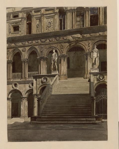 Venise, Escalier des géants, palais des Doges_0
