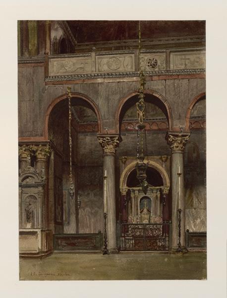 Venise, intérieur de la basilique Saint Marc