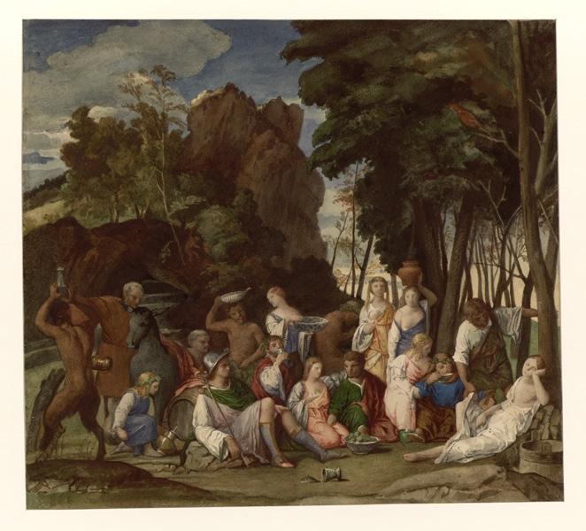 Le festin des dieux, d'après Bellini