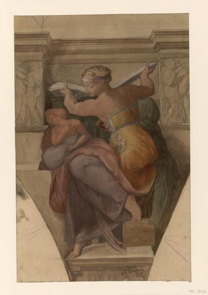 Rome, Sibylle de la chapelle Sixtine d'après Michel Ange_0