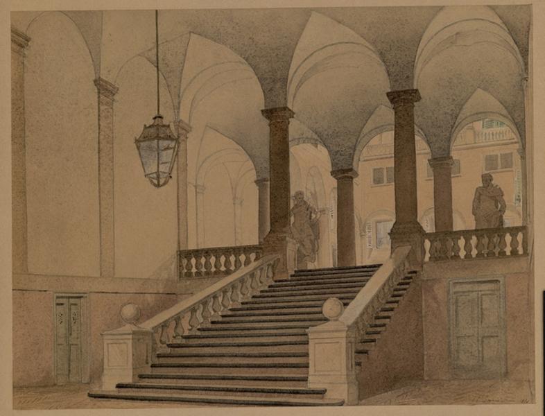 L'escalier de l'Académie à Gênes_0