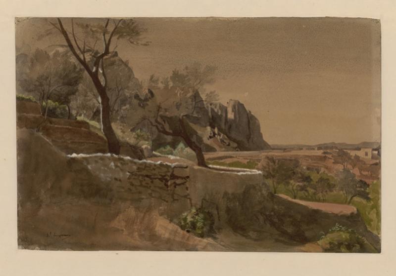 LENEPVEU Jules Eugène (dessinateur) : Vue de Capri