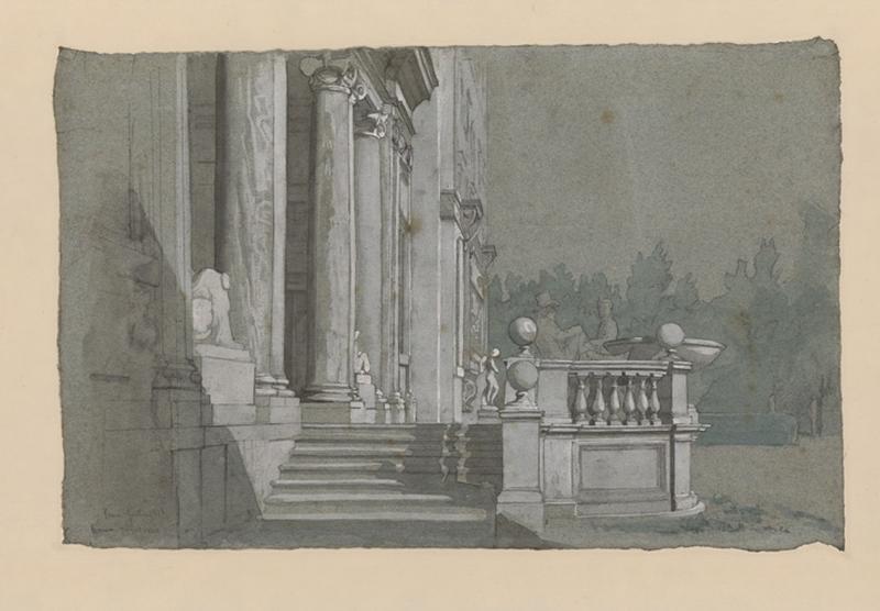 Portique de l'académie de France à Rome